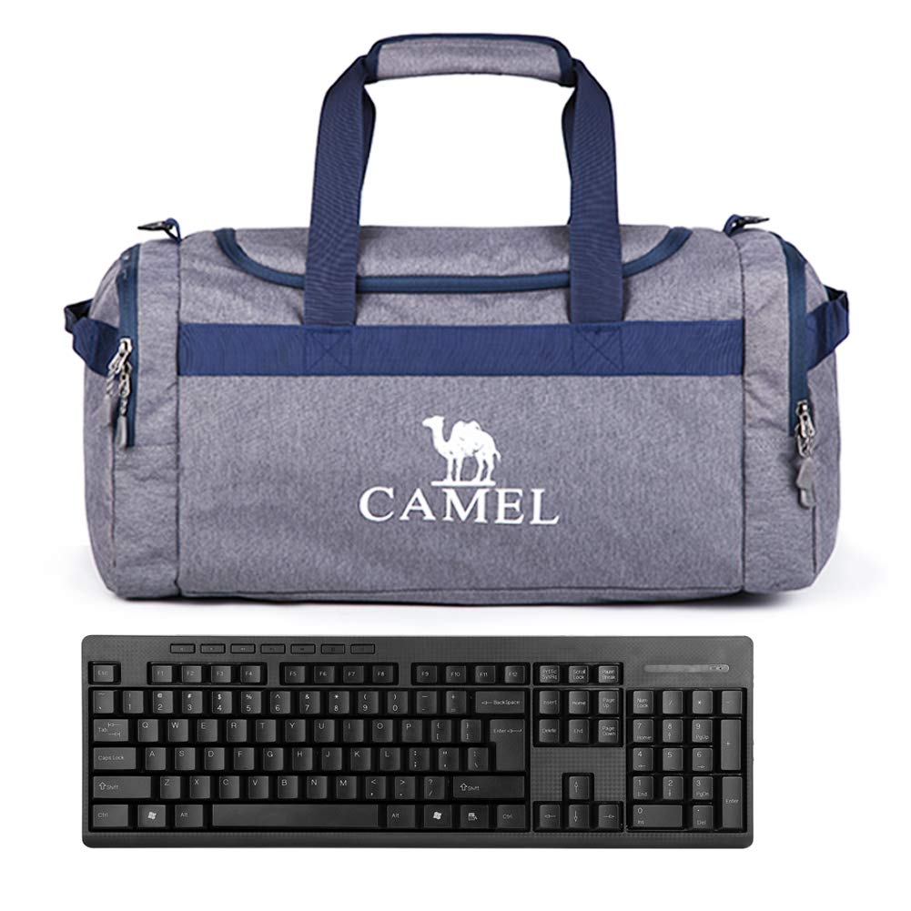 Camel Carry On Duffel Bags Luggage with Shoulder Strap for Gym Fitness Travel Sports Men Women