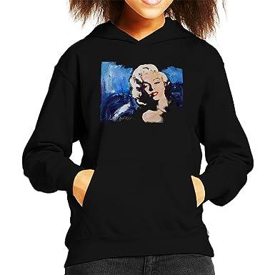 Image Unavailable. Image not available for. Color  Sidney Maurer Original  Portrait of Marilyn Monroe Blonde Bombshell Kid s Hooded Sweatshirt 53ec4987a3c