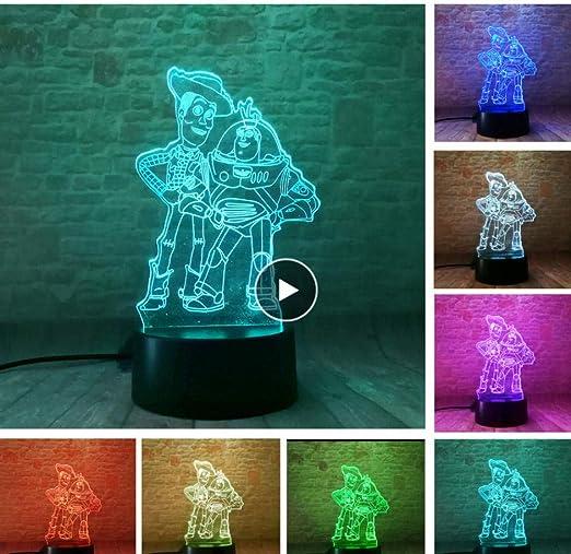 Iluminación infantil nocturna Favor de niño Toy Story Cambio ...