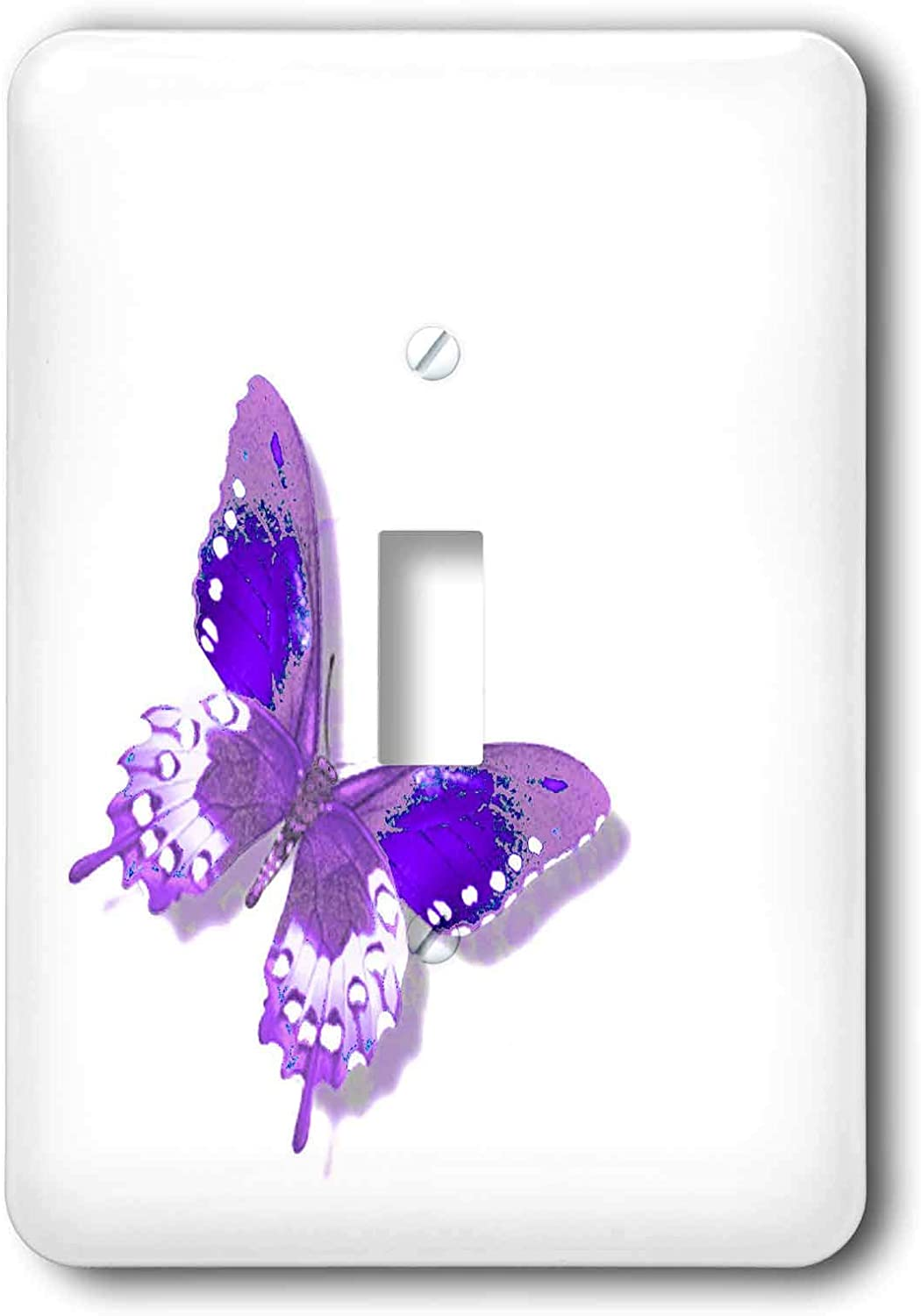 3drose Llc Lsp 31399 1 Purple And White Butterfly Art Nature Designs Single Toggle Switch Switch Plates Amazon Com