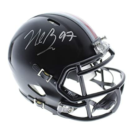 e413ae7d7 Nick Bosa Autographed Signed Ohio State Buckeyes Black Riddell Speed Mini  Helmet - JSA Certified Authentic
