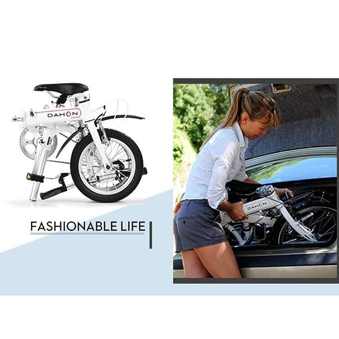 Monociclos Bicicleta Plegable Bicicleta Unisex Mini Bicicleta Adulta Bicicleta pequeña Rueda portátil (Color : Blanco, Size : 115 * 27 * 80cm): Amazon.es: ...