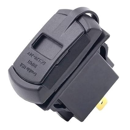 Cuidado de la Motocicleta Cargador USB for Coche 12 V / 24 V ...