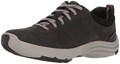 CLARKS Women's Wave Andes Walking Shoe, Black Nubuck, ...