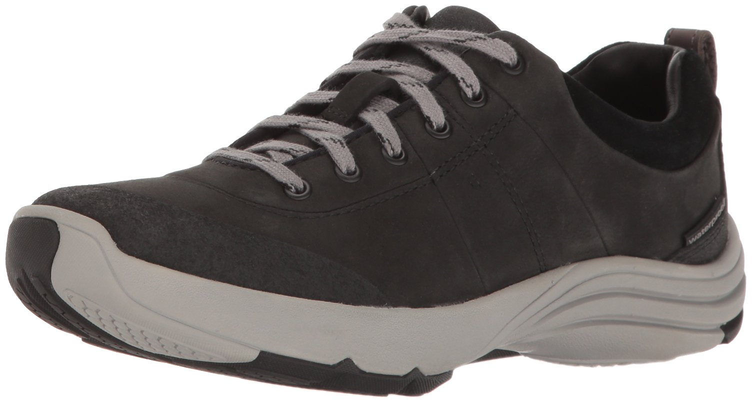 CLARKS Women's Wave Andes Walking Shoe, Black Nubuck, 7.5 W US