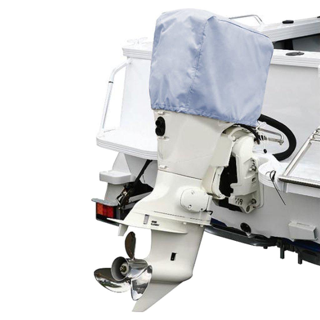 perfk 1 Unidad Funda Motor Fueraborda Cubierta Completa de 80x45x75cm de Color Gris