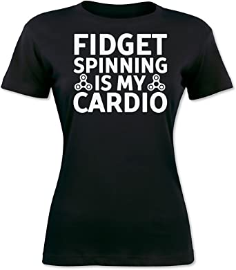 Fidget Spinning Is My Cardio Camiseta para Mujer XX-Large: Amazon ...