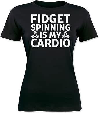 Fidget Spinning Is My Cardio Camiseta para Mujer XX-Large: Amazon ...