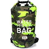 BAYUTE Floating Waterproof Drying Bag (20L), roll-top Drying Bag, Light Storage Bag, Suitable for Traveling, Fishing, Swimmin