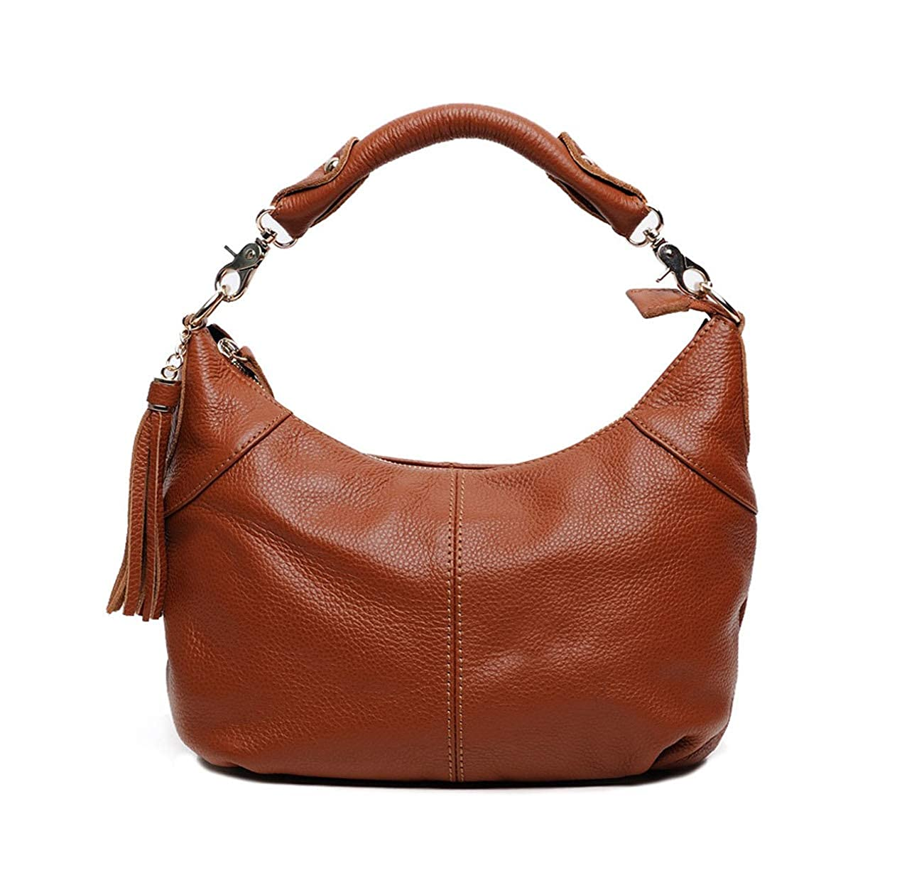 Brown DEERWORD Women's CrossBody Bags Faux Leather Handbags Shoulder Bags TopHandle Bags Mini