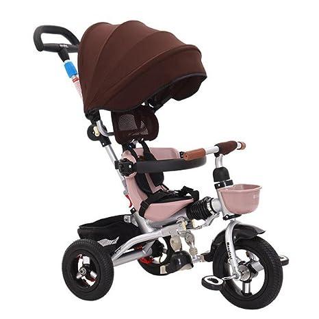 HUALQ Bicicleta niño Plegable Triciclo Carro bebé Bicicleta 1-5 años de Edad Bicicleta