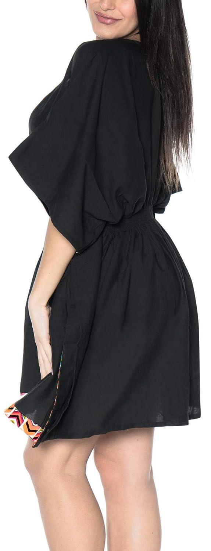 LA LEELA Donne Bikini Rayon Copertura Solida Fino Pianura 2083