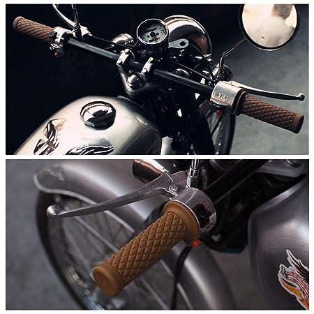 1 par puños para Manillar universales de Goma, Suave Antideslizante para Moto Bicicleta Cafe Racer, 22 mm Camel