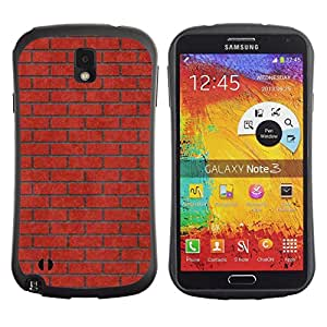 Fuerte Suave TPU GEL Caso Carcasa de Protección Funda para Samsung Note 3 N9000 N9002 N9005 / Business Style Brick Wall Pink Red Meaning Music