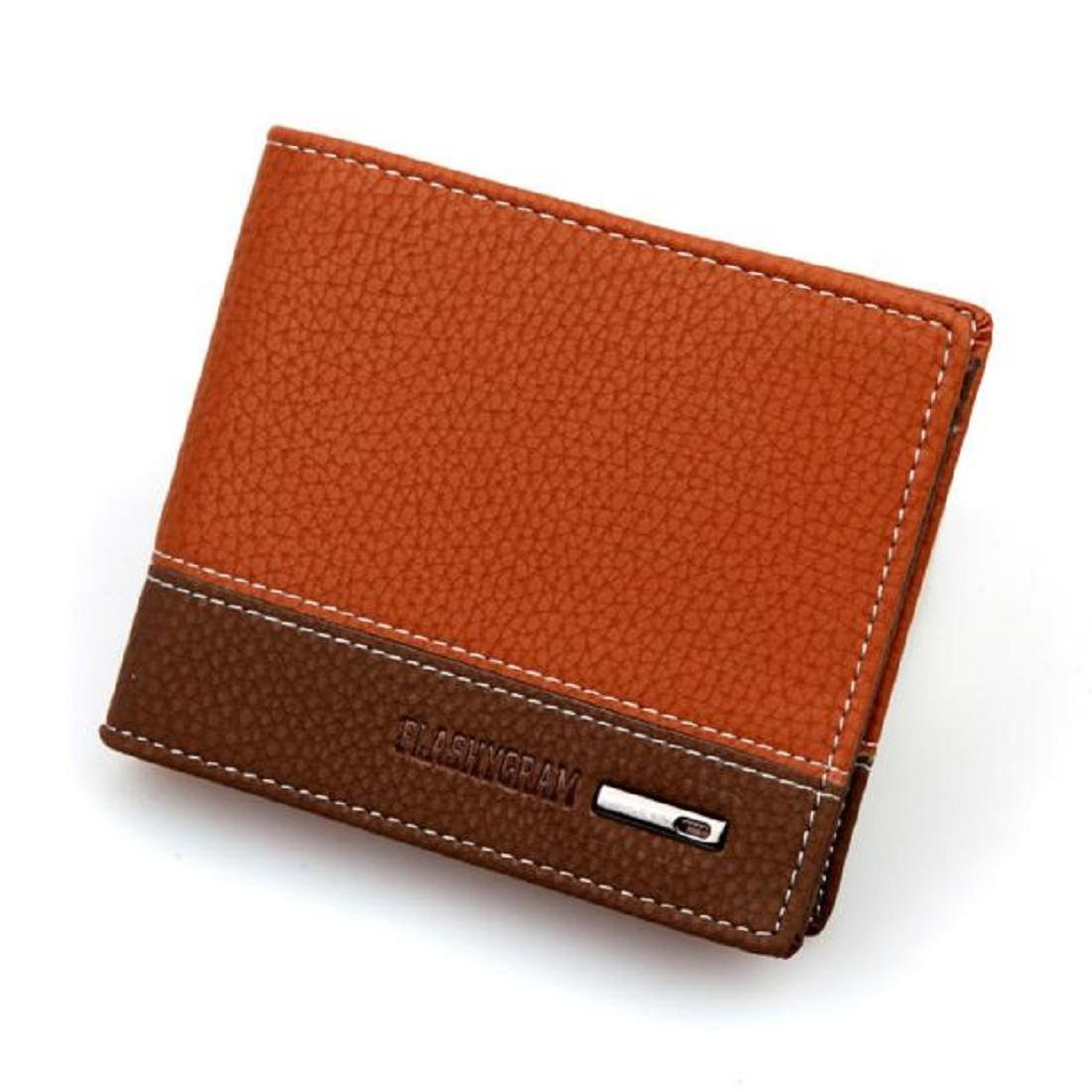 Coromose Mens Leather Bifold Money Card Holder Wallet Coin Purse Clutch Pockets