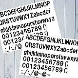 1文字8.4円 アルファベット防水ステッカー 全176文字セット 切り文字タイプ【縦30cmx横21cmシート】 カッティングタイプ 16色選択 No.303 (白)