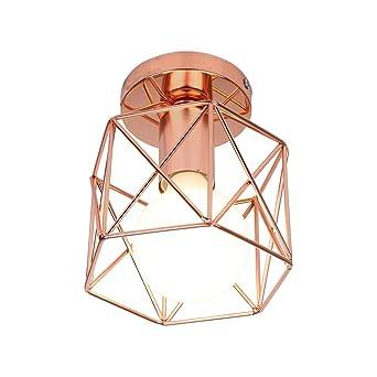 Lámpara de techo industrial E27, lámpara colgante DIY, vintage ...