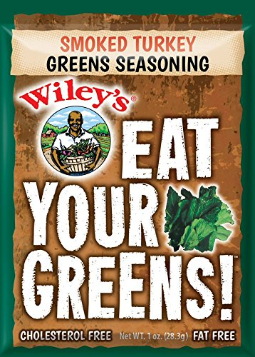 Beans Spices Green - Wiley's Smoked Turkey Greens Seasoning-pack of 6 (1oz each)
