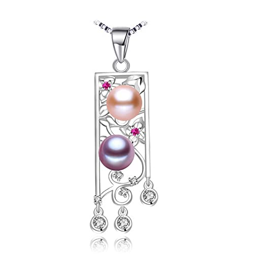 CS-DB Jewelry Silver Pearl Ruby Colorful Leaf Chain Charm Pendants Necklaces