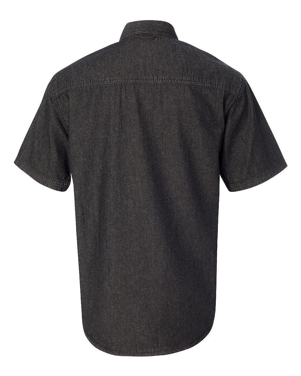 Sierra Pacific Mens Short Sleeve Pocket Denim Shirt