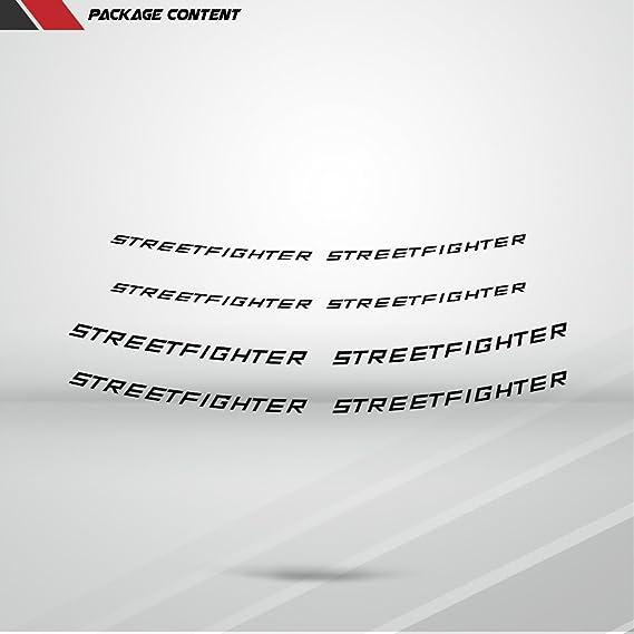 Stickman Vinyls Glänzend Weiß Motorrad Inner Rim Tape Decal Aufkleber Kompatibel Mit Ducati Streetfighter Auto