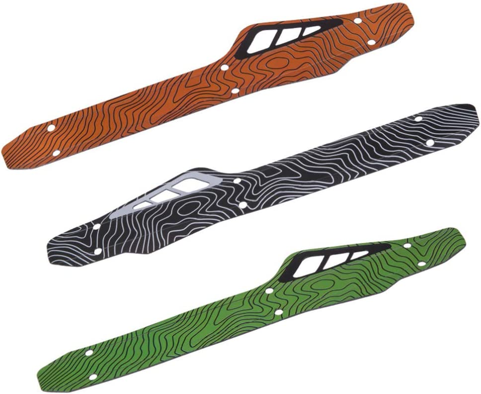 BESPORTBLE Bike Chainstay Protector Bicycle Frame Chain Guard Pad for Mountain Bike Chain Protector Orange 2 Sets