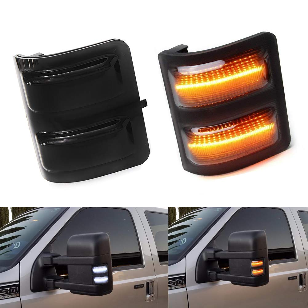 LED Side Mirror Running Signal Lights Smoked Lens For Ford F-250 F-350 F-450 F-550 Ford Super duty 2008 2009 2010 2011 2012 2013 2014 2015 2016 61kcmAcCQaL