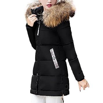0228eb5637c443 Covermason Femme Manteau Hiver Epaisse Mi-Long Capuche Fausse Fourrure  Blouson Veste Chaud Doudoune Parka Casual Fashion