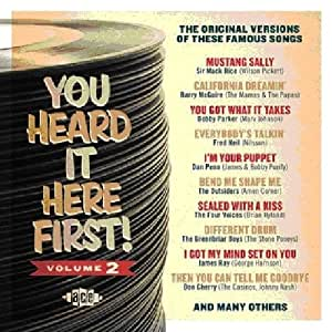 Various You Heard It Here First Volume 2 Original Versions Of