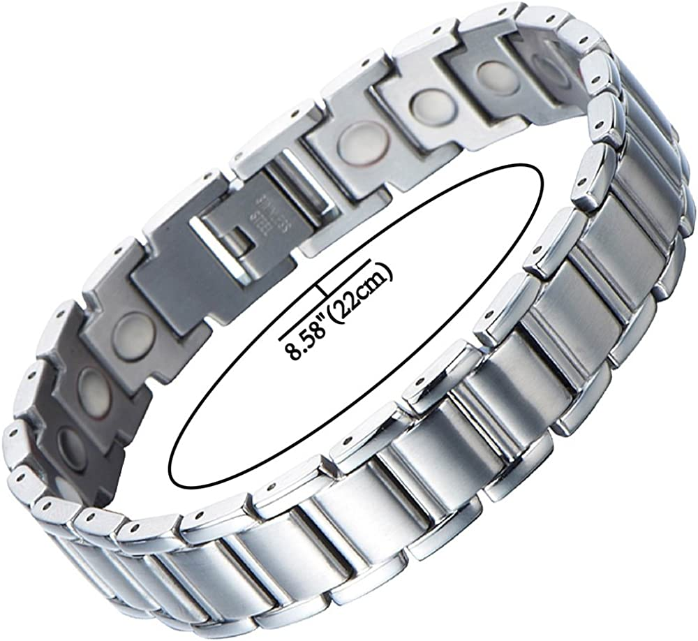 DG Stainless Steel Gold Black Multilayer Genuine Leather Magnetic Bracelet Gift