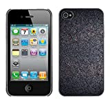 LASTONE PHONE CASE / Slim Protector Hard Shell Cover Case for Apple Iphone 4 / 4S / Cool Interesting Cork Grey Ash