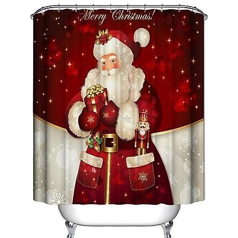 Christmas Shower Curtain.Xonor Christmas Shower Curtain Merry Christmas Dreamlike