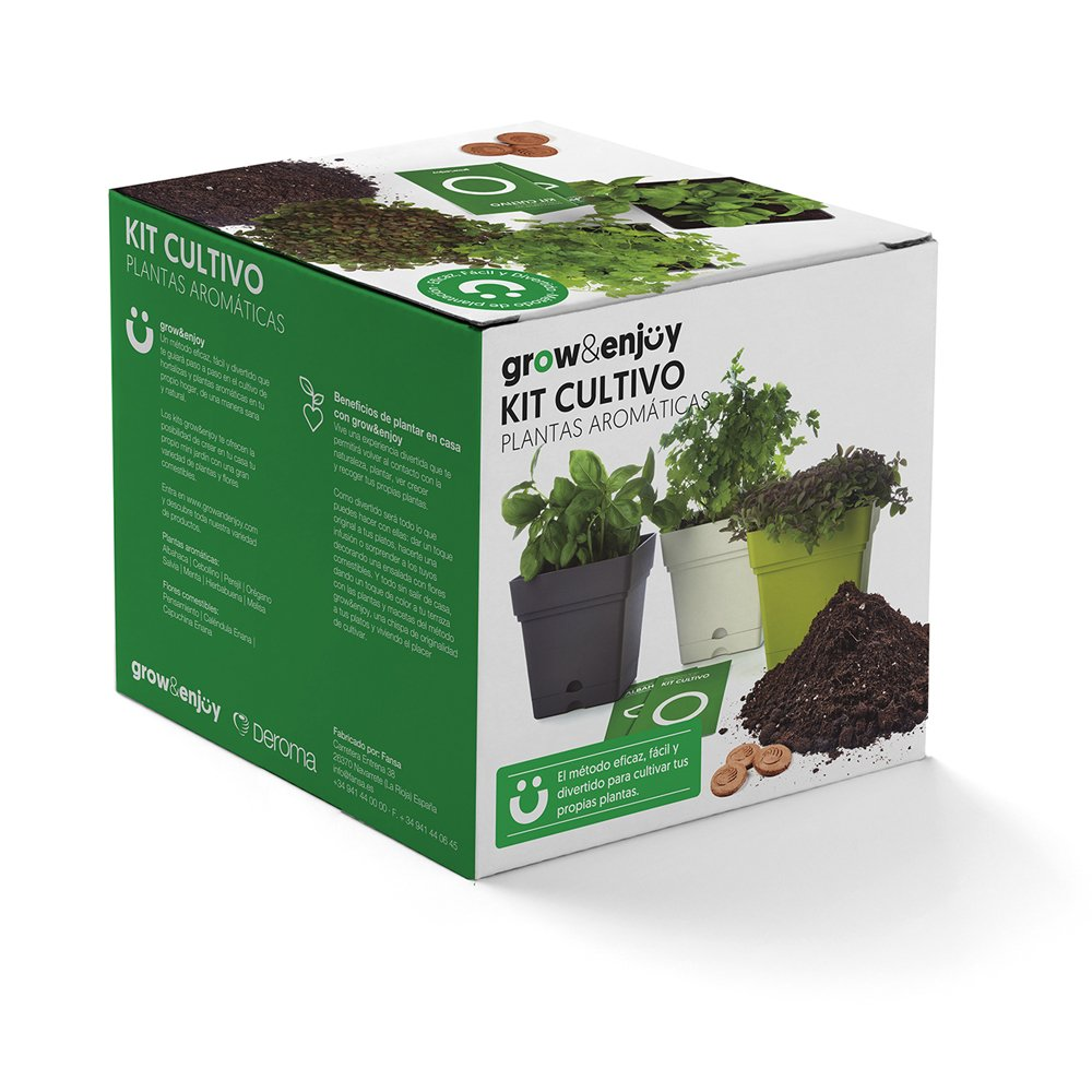 Grow & Enjoy Samba - Kit de cultivo Melisa, maceta cuadro, 18 cm ...