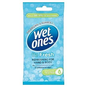 Wet Ones Be Fresh - Toallitas húmedas antibacterianas (9 unidades): Amazon.es: Belleza