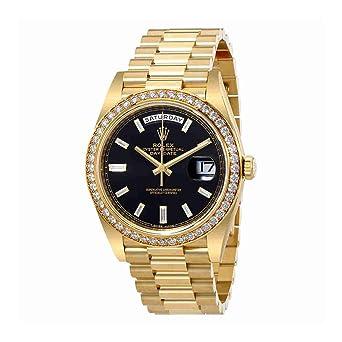 0259aa2a97f3d Rolex Oyster Perpetual Day-Date Cadran Noir Automatique pour Homme Or Jaune  18 carats Président