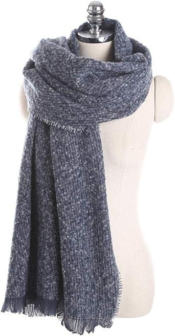 TALLA 175cmmore than. AiNaMei Señoras otoño e invierno cálida borla gruesa moda bufanda larga