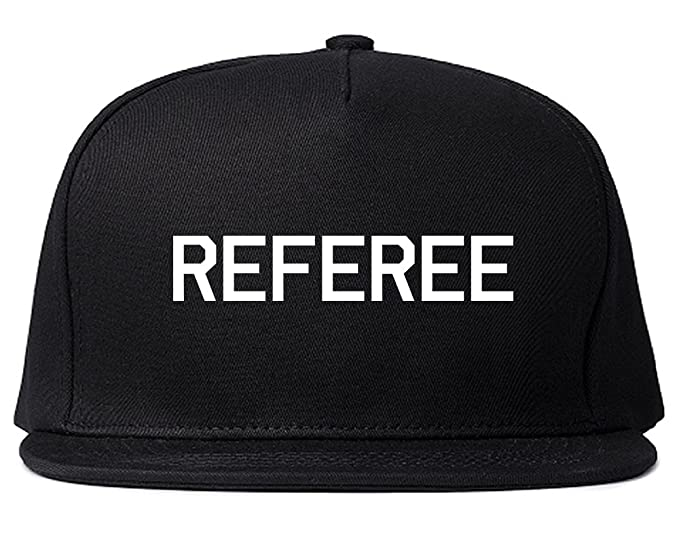 Referee Soccer Football Snapback Hat Cap Black at Amazon Men s ... 6e6e928fa8b