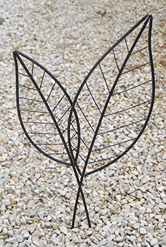Gartenstecker Blattduo, Rankhilfe aus Metall, GD138 Unbekannt