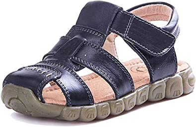 Amazon.com | LONSOEN Leather Outdoor Sport Sandals, Fisherman Sandals for  Boys(Toddler/Little Kids) | Sport Sandals