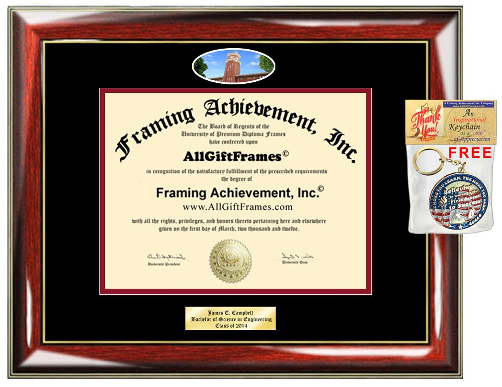 Diploma Frame Washington State University WSU Graduation Gift Idea Engraved Picture Frames Engraving Degree Certificate Holder Graduate Him Her Nursing Business Engineering Education School