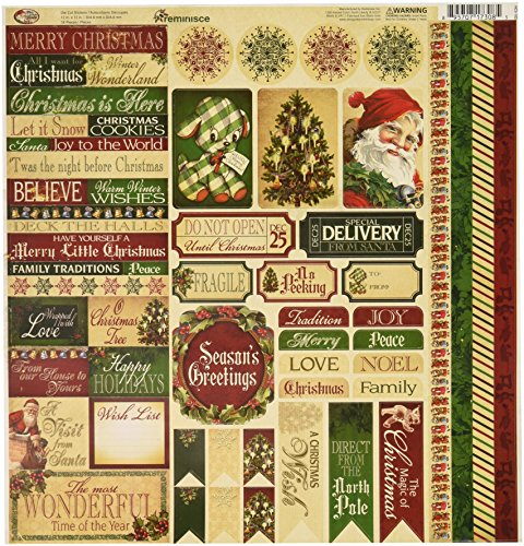 Reminisce Santas (Reminisce Here Comes Santa Scrapbook 12 by 12-Inch Variety Sticker)