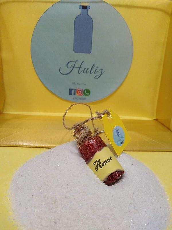 Botella decorada con resina epoxi, simula poción mágica de ...