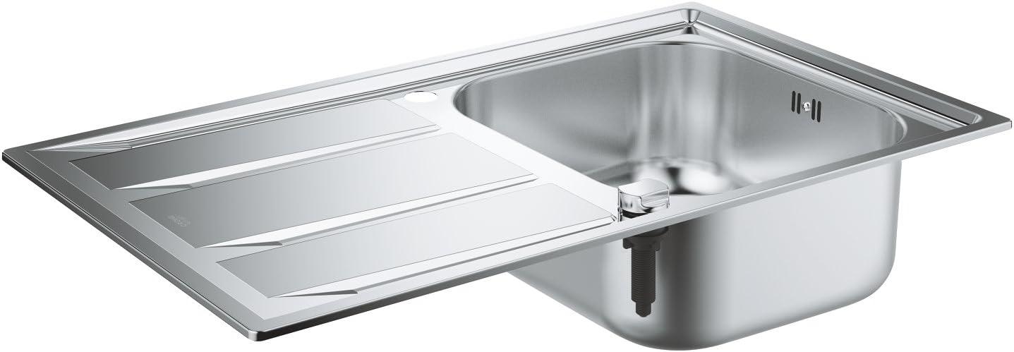 GROHE 31566SD0 - K400 Fregadero de acero inoxidable con escurridor: Amazon.es: Bricolaje y herramientas