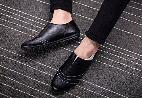 los Populares de la Ocio del Casual la de EN Hombres Zapatos los Zapatos los Deslizamiento Rejilla de de Negro Moda LIEBE721 Y6w186