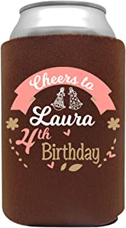 product image for Personalized Can Cooler Custom Can Coolies – Birthday Can Coolies - Fits 12-Ounce Cans and Bottles – Keeps Drinks Cold for Longer – Ideal for Travelling, Party Favors Baby Girl 12 Pack