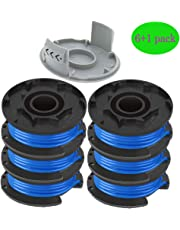 """AC14RL3A String Trimmer Replacement Spool Line for Ryobi One+ 18V, 24V, and 40V Cordless Trimmers, 0.065"""" Autofeed Replacement Spools with 522994001 Cap by TOPEMAI"""