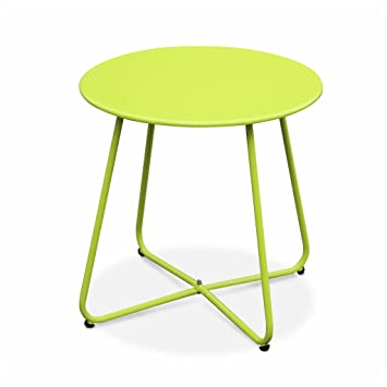 Alice\'s Garden - Table Basse Ronde - Cecilia Vert anis - Table d ...