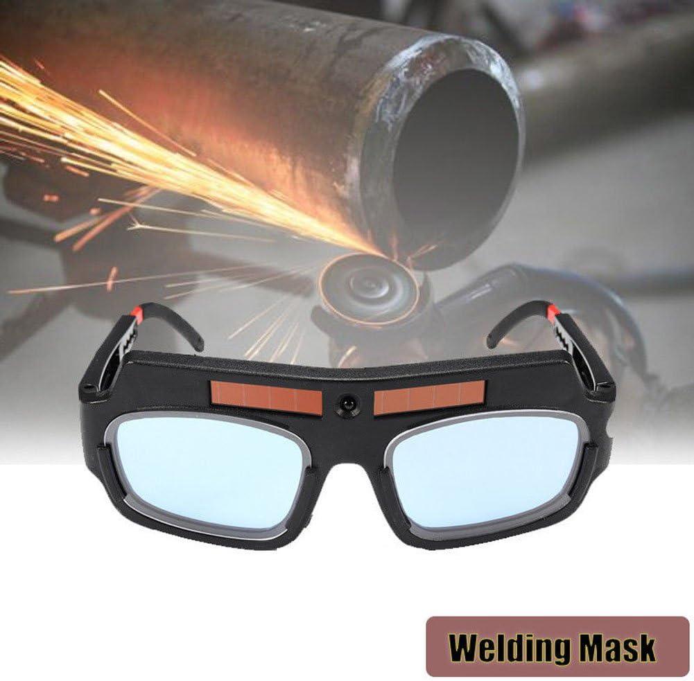 JHCHA Lunettes de s/écurit/é /à /énergie solaire automatique assombrissement de soudage des lunettes de protection des yeux de soudeur de lunettes masque arc