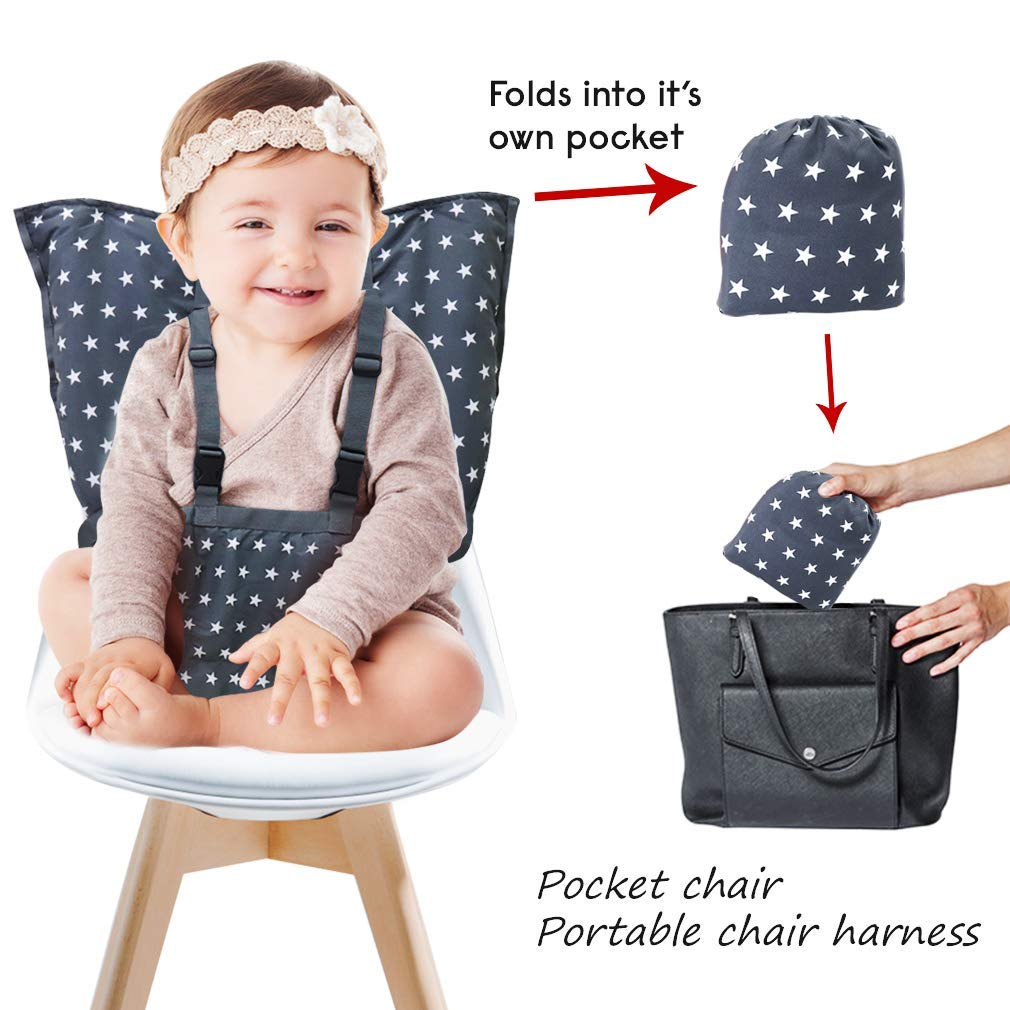 Adjustable Straps Portable High Chair Travel Booster Seat Harness Baby Toddler