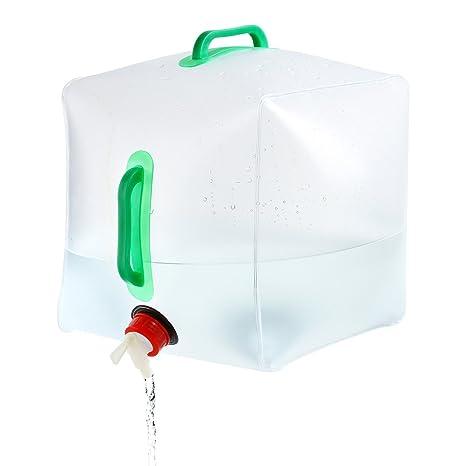 URPRO Bolsa para el Transporte de Agua, 5 galones / 10L Bolsa portátil de Transporte de Agua de PVC para el Almacenamiento de Agua al Aire Libre, ...